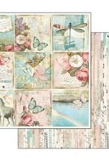 Stamperia 12 x 12 Decorative Paper Wonderland Butterflies & Unicorns