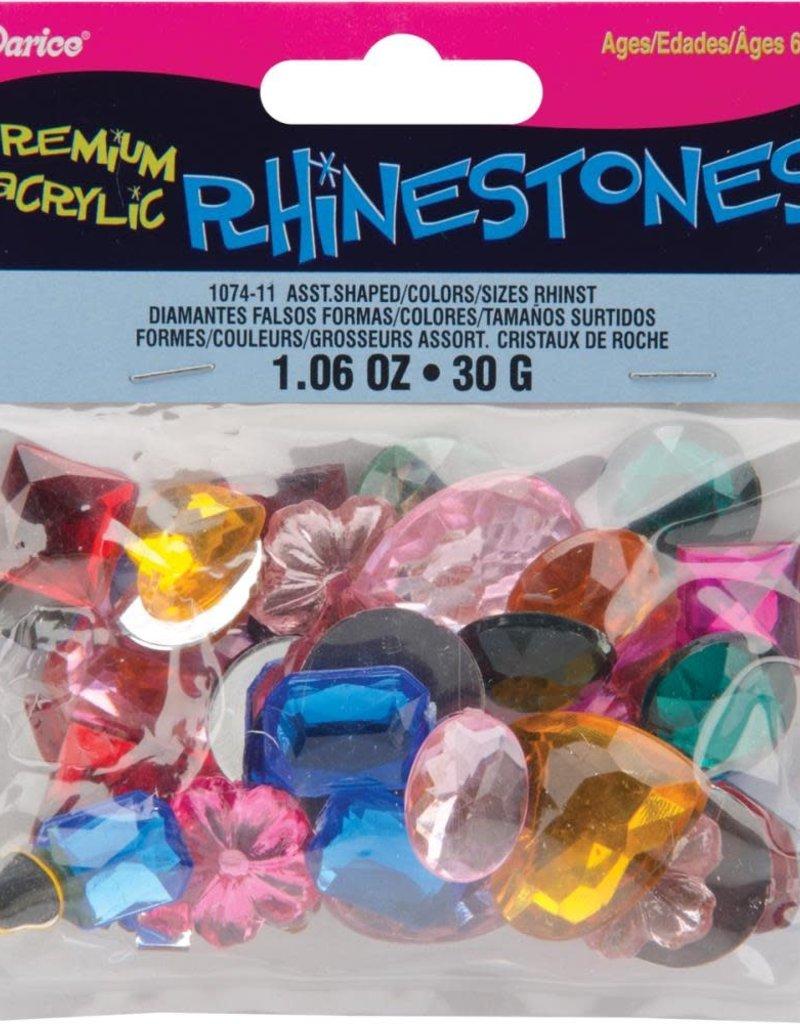 Darice Acrylic Rhinestones Assorted Shapes & Colors