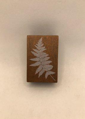 collage Stamp Fern Leaf
