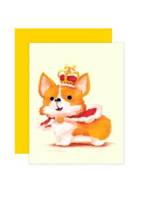 The Little Red House Card Royal Corgi