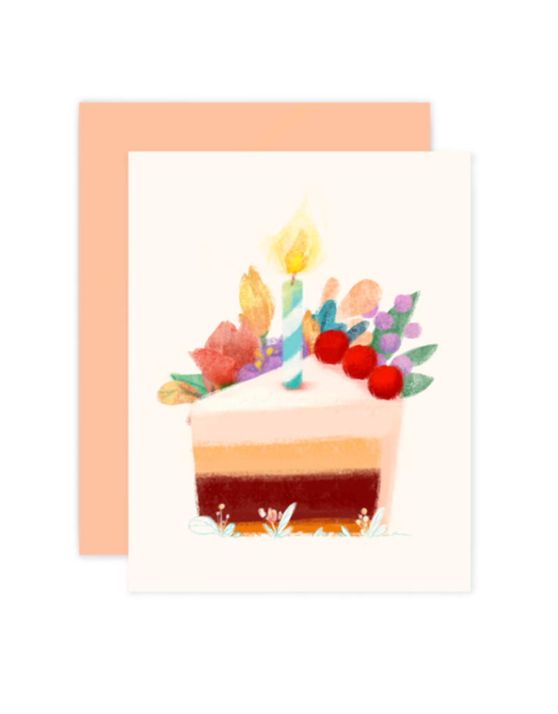 The Little Red House Card Cake Slice