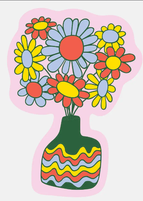 The Good Twin Sticker Daisy Vase