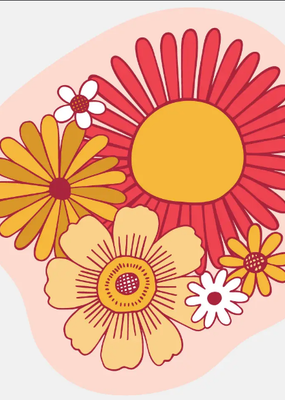 The Good Twin Sticker Flower Power