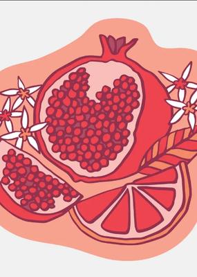 The Good Twin Sticker Pomegranate
