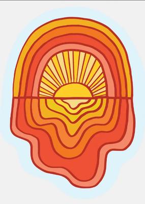 The Good Twin Sticker Rainbow Sun