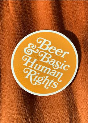 Daisy Natives Sticker Beer & Basic Human Rights