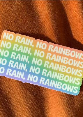 Daisy Natives Sticker No Rain No Rainbows