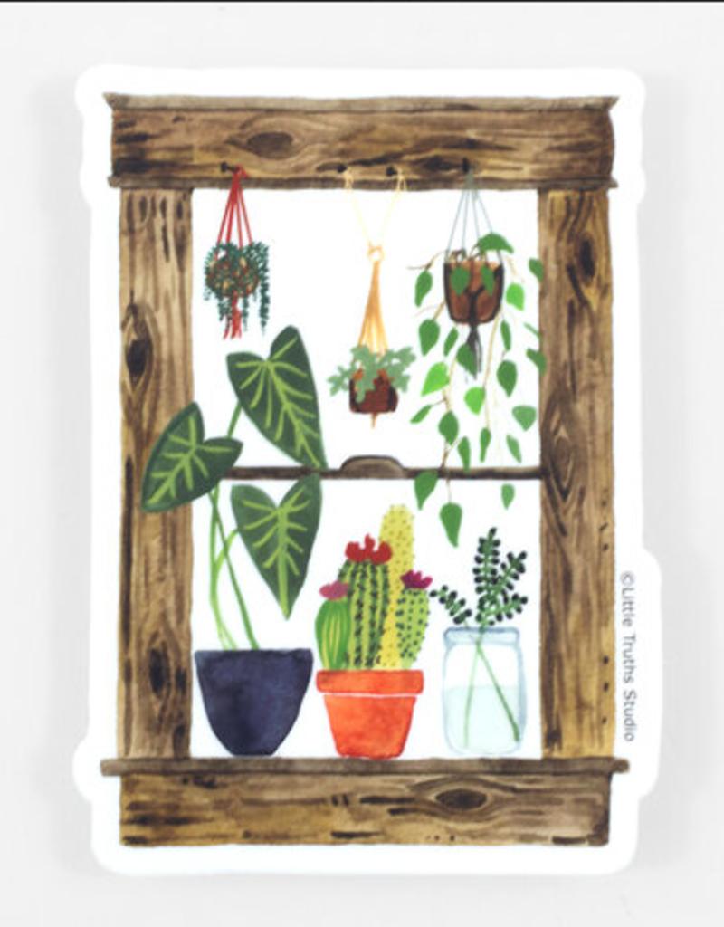 Little Truths Studio Sticker Plants Window
