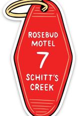 The Found Sticker Rosebud Motel Key Tag