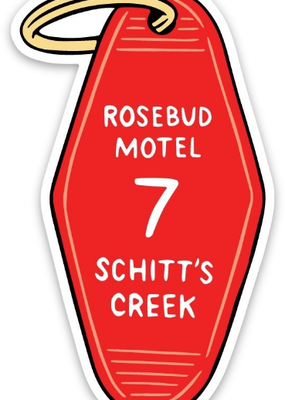 The Found Sticker Rosebud Motel Key Tag