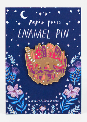 Papio Press Enamel Pin Walking Red Panda