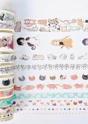 collage Washi Set Cats