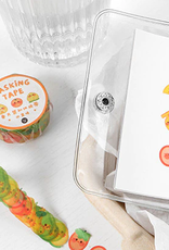 collage Washi Sticker Fruit Faces
