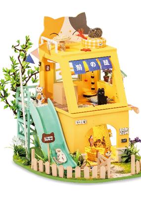 Hands Craft Miniature Dollhouse Kit Cat House