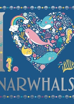 Sterling I Heart Narwhals Coloring Book
