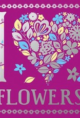 Sterling I Heart Flowers Coloring Book
