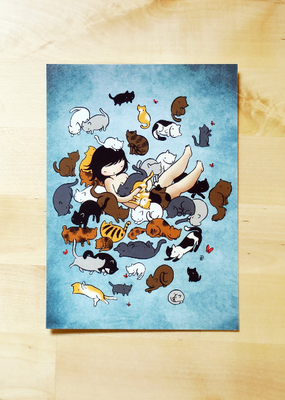 Stasia Burrington Postcard Kitty Heaven