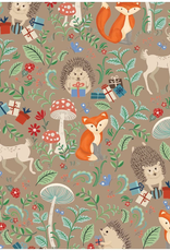 Jillson & Roberts Gift Wrap Roll Krafty Fox