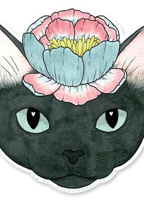 Bee's Knees Sticker Flower Cat