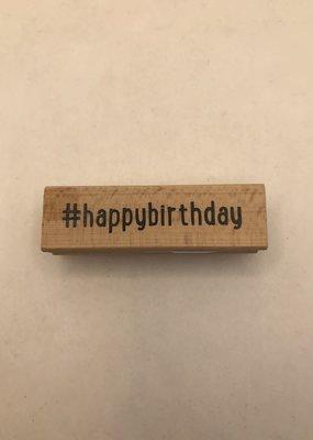 collage Stamp Hashtag Happy Birthday