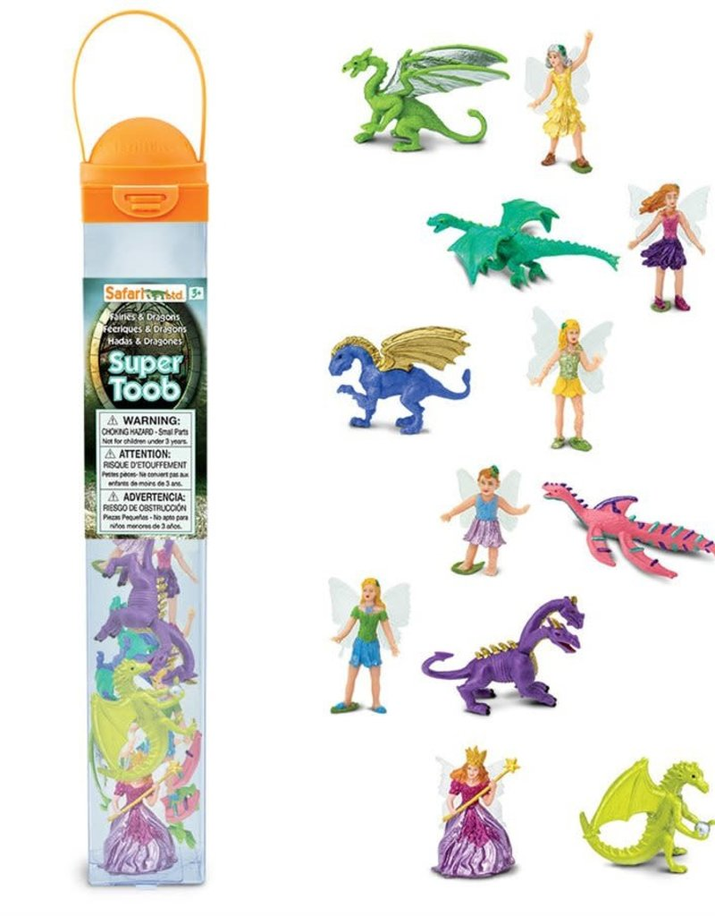 Safari Fairies & Dragons Figurine Set