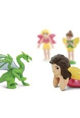 Safari Dragons & Fairies Figurine Set