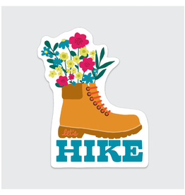 Rock Scissor Paper Sticker Hiking Boot