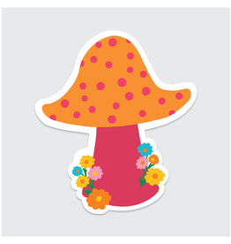 Rock Scissor Paper Sticker Dotted Mushroom
