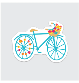 Rock Scissor Paper Sticker Flower Bike
