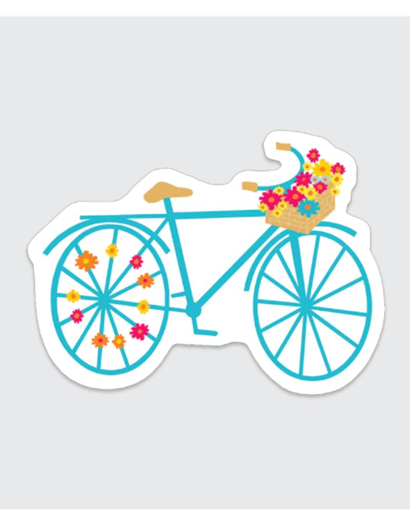 Rock Scissor Paper Sticker Flower Bike