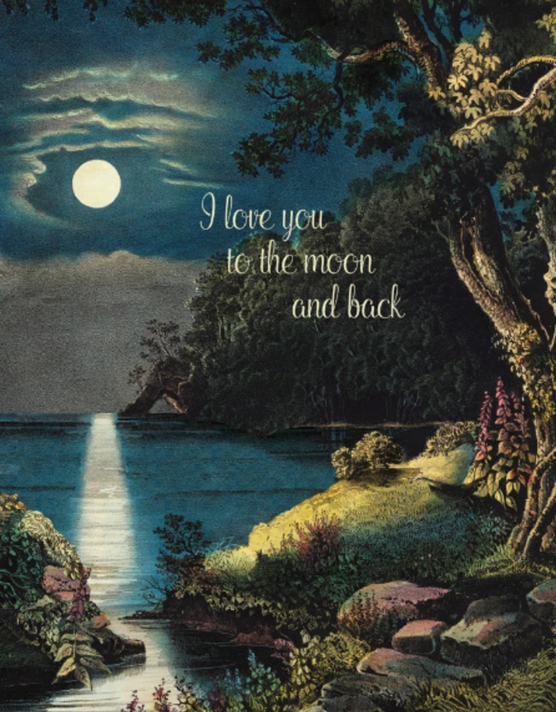 P Flynn Design Card I Love You To The Moon
