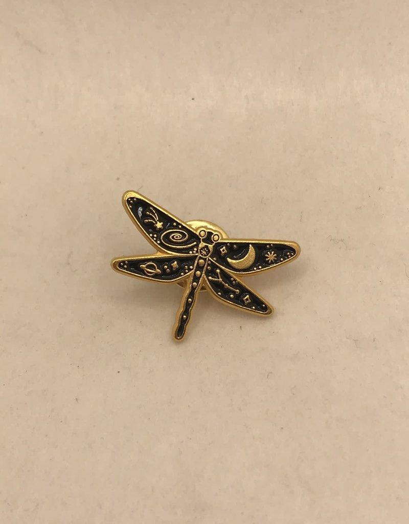 collage Enamel Pin Galaxy Dragonfly