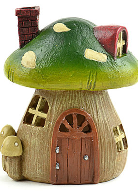 Touch of Nature Light Up Mushroom House 4.5 Inch