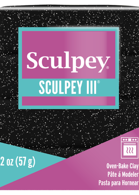 Sculpey Sculpey III 2oz Black Glitter