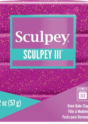 Sculpey Sculpey III 2oz Violet  Glitter