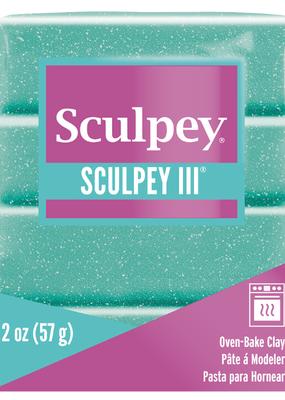 Sculpey Sculpey III 2oz Turquoise  Glitter