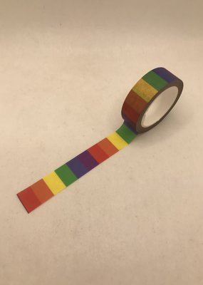 collage Washi Rainbow Vertical Lines Primary