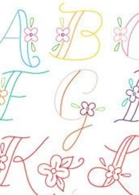Sublime Stitching Sublime Stitching Embroidery Transfer Pattern Monograms