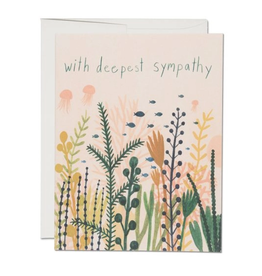 Red Cap Cards Card Underwater Sympathy