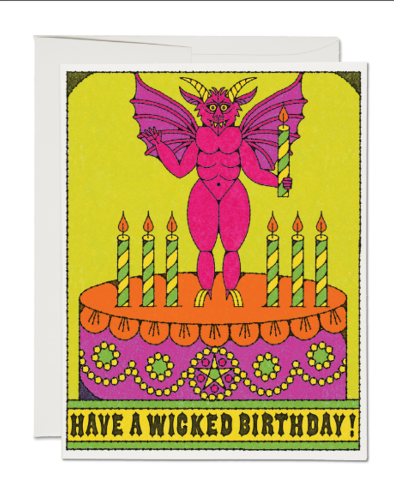 Red Cap Cards Card Wicked Birthday