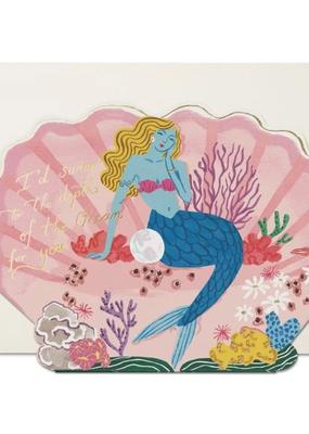 Red Cap Cards Card Blue Mermaid