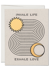 Red Cap Cards Card Inhale Exhale