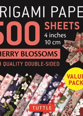 Tuttle Publishing Origami Paper Cherry Blossoms 500 4 Inch Sheets