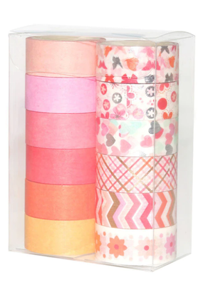collage Washi Set Warm Colors and Patterns