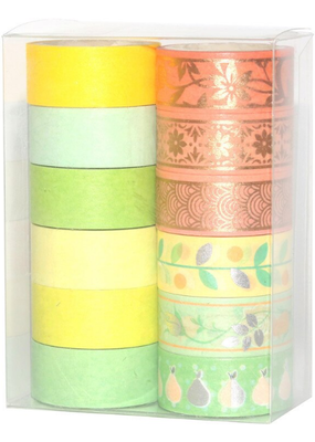 collage Washi Set Spring Colors and Patterns