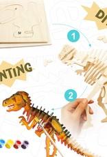 Hands Craft 3D Wooden Puzzle & Paint Kit T-Rex