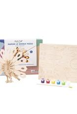 Hands Craft 3D Wooden Puzzle & Paint Kit Peacock