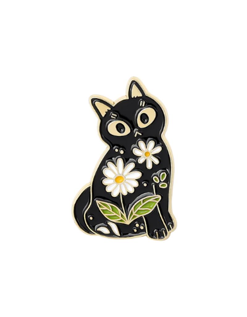 collage Enamel Pin Garden Cat