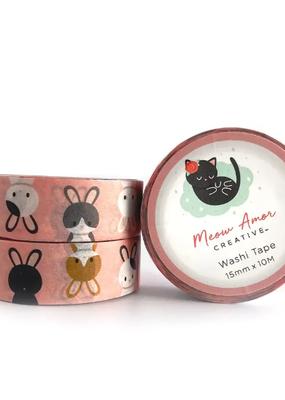 Meow Amor Creative Washi Bunny