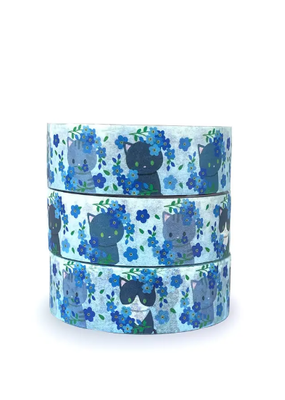 Meow Amor Creative Washi Cats & Forget Me Nots